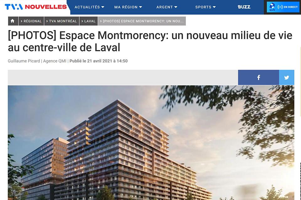 Espace Montmorency: un nouveau milieu de vie au centre-ville de Laval
